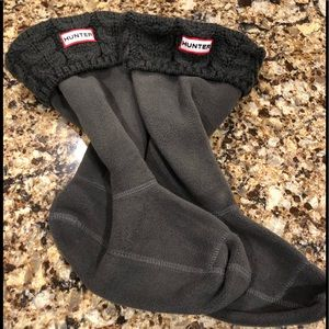 Hunter short boot liner with Canle Knit tops sz M